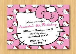 Design Your Own Birthday Party Invitations Hello Kitty Birthday Invitations Printable Free Invitation