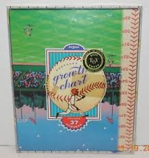 Details About Eeboo Keepsake Hanging Baseball Growth Chart New In Box 37 Stickers