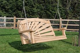 Rising sun garden swing seat without A frame