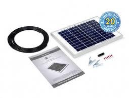 10 Watt <b>Solar Panel Kit</b>