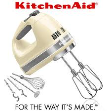 kitchenaid hand mixer 9 speed. kitchenaid - 9-speed hand mixer almond cream kitchenaid 9 speed