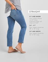 Boyfriend Jeans Size Chart Guide To Denim Inseams For Women Stitch Fix Style