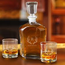 personalized decanter set with 2 lowball gles for groomsmen