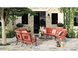 Signature design by ashley burnella 7 piece outdoor conversation set