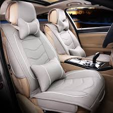 beige car seat protector luxury leather car seat cover universal