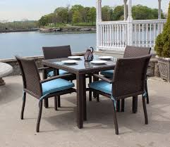 affordable outdoor dining sets. astonoshing blue and dark brown square modern glass with wooden wicker patio table stained design ideas affordable outdoor dining sets e