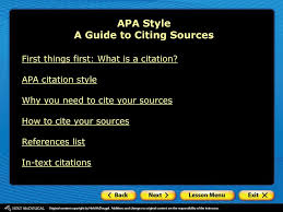 Apa Style A Guide To Citing Sources Ppt Download