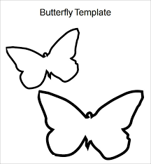 Printable Butterfly Outline Free 9 Butterfly Samples In Pdf