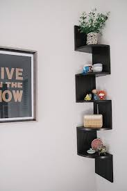 amazing corner floating shelf ikea bedroom with brown glass wall design collection idea for home decor