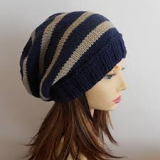 Easy Knit Hat Pattern Straight Needles Simple Ravelry CAMPUS Striped Slouch Hat Knit Straight Pattern By Made