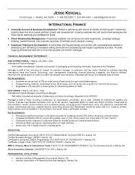 Sample Finance Resumes Resume Sample