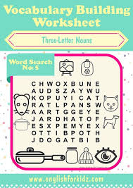 Vocab Building Worksheets Printable Work Search Worksheets For School Esl Phonics