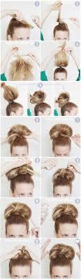 giant bun tutorial easy high bun updos