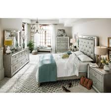 Mirrored Bedroom Set Furniture The Angelina Collection Metallic Value City Furniture Mirrored