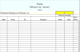 Mileage Spreadsheet For Taxes Of Free Log Templates Word