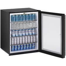 metal 3 star glass door undercounter refrigerator compact