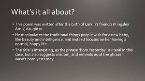 born yesterday by philip larkin gcse analysis   born yesterday by philip larkin gcse analysis