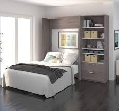Electric Murphy Bed Cielo By Bestar 89 Full Wall Bed In Bark Grey