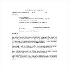 purchase agreement sample offer to purchase a business template free 10 purchase agreement