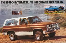 1981 Chevrolet Blazer brochure