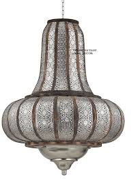 xl silver moroccan pendant chandelier light fixture turkish vintage style new doesnotapply moroccan