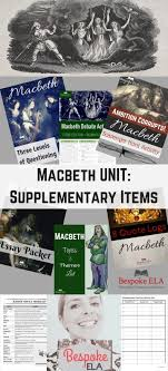 best macbeth quotes halloween poems william macbeth bundle supplementary materials for any macbeth unit