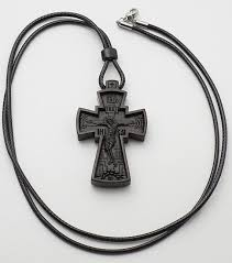 necklace cross wood mens cross necklace vintage crucifix