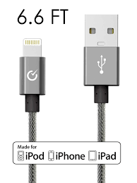 black volts lightning cable to usb apple mfi certified charger w ultra compact connector head for apple iphone 6 6 plus ipod ipad more exo space