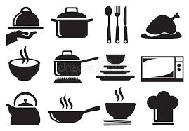 kitchen utensils vector. Download Kitchen Utensil Vector Icon Set Stock - Illustration Of Icons, Cuisine: 56597161 Utensils T
