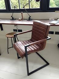 vintage leather office chair. Leather Desk Chair No Wheels Vintage Office