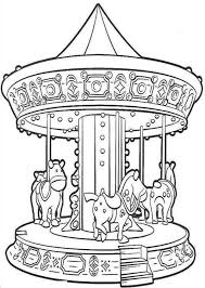 Small Picture Simple Carousel Coloring Pages Coloring Page and Coloring Book