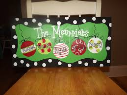 Christmas Signs Meurrier Family Painted Christmas Signs