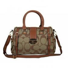 Coach Willis Lock Logo Signature Medium Beige Luggage Bags BRJ