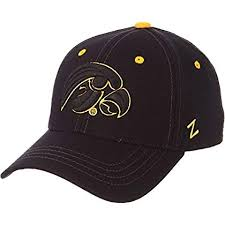 Zhats Size Chart Zephyr Mens Iowa Hawkeyes Element Ii Black Adjustable Hat