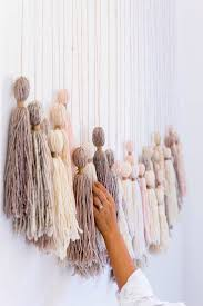 palette tassels easy yarn wall hangings ideas to gift your friends for special occasion