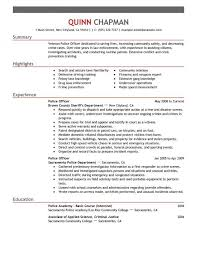 Police Officer Resume Template Magnificent Police Law Officer Resume Sample Template Free Law Enforcement