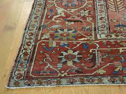 sy hand knotted rug 9 7 x12 4 excellent condition antique persian serapi