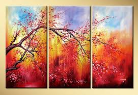 abstract landscape oil painting plum blossom hd0015