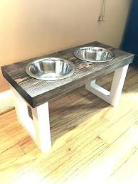 white cat food bowl stand dog wooden pet plans diy cat food bowl stand stands pet