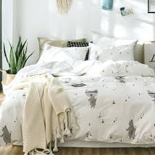 bedding sets twin cotton white duvet cover set twin queen king bedding sets for s cute