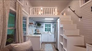 luxurious tiny house with a split level floor plan