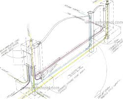 detail gallery page electric driveway gate 3d drawing columns and wiring
