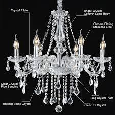 costway elegant crystal chandelier modern 6 ceiling light lamp pendant fixture lighting 1
