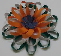 Easy Tricolour Paper Flower Republic Day And Independence Day