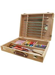 large brush paint box with palette