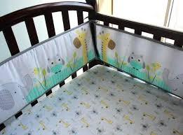 giraffe crib bedding cotton embroidery owl elephant giraffe baby bedding set quilt per skirt mattress cover