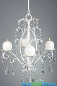 chandeliers hanging candle chandelier crystal white wedding decor hang or tabletop fl images