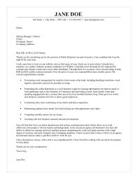 Resume Sample Public Relations Account Executive Cover Letter