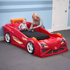 car beds hot wheels toddler to twin race car bed red kids bed . car beds ...