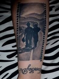 My Tattoo On My Right Forearm Of The End Scene From Charlie Chaplins